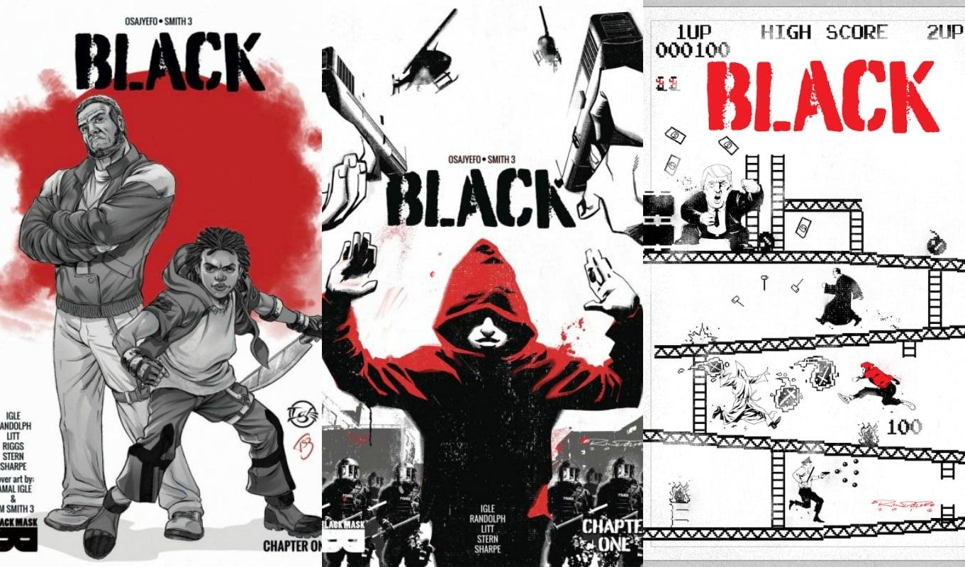 black comic book