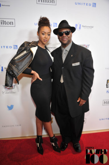 Music Producer Jimmy Jam (right) and Bella Harris