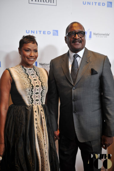 Music Executive Matthew Knowles (right) and guest