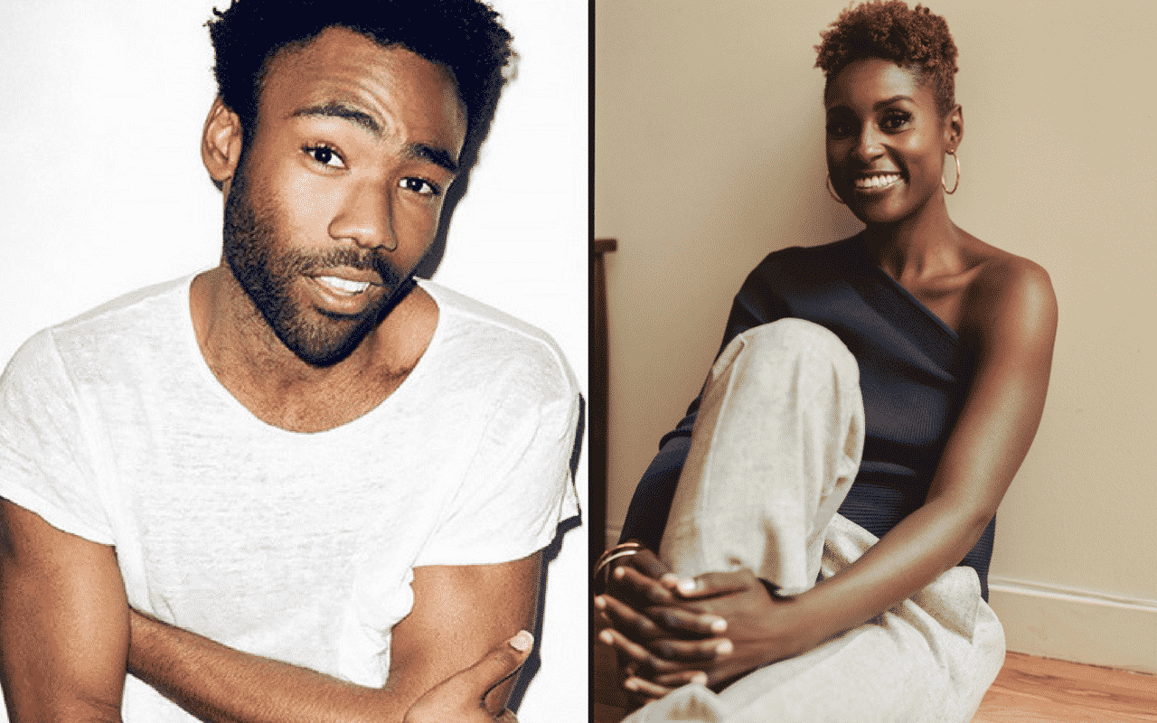 Issa Rae and Donald Glover The Hollywood Reporter