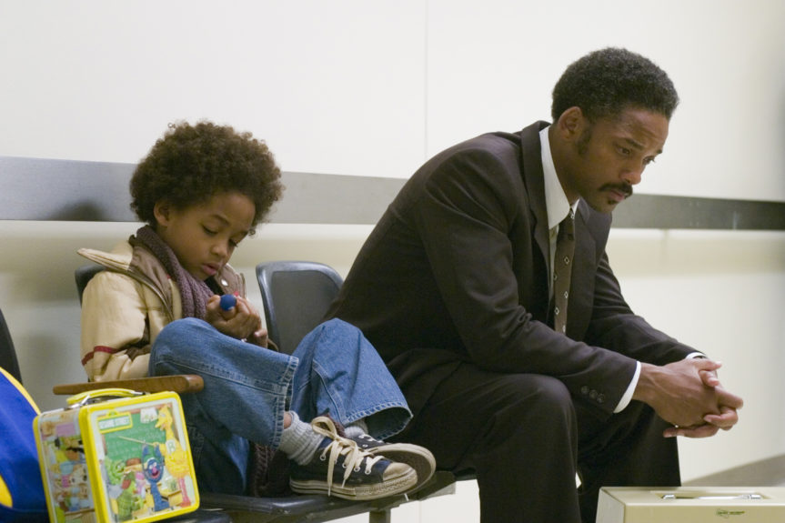 Chris Gardner (Will Smith) proved he'd do anything necessary to take care of his son in <i>Pursuit of Happyness</i>, including chasing down robbers, ducking rent-seeking landlords and crashing on restroom floors. But in the end, the humble stockbroker-in-training got the last laugh: He won both a high-paying job and his 5-year-old's never-ending respect.