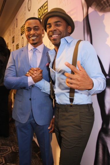 """RonReaco Lee (left) of """"The New Edition Story and """"Survivor's Remorse"""" and gospel artist MAJOR."""
