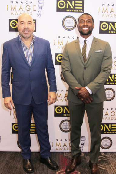 """Jason Stuart (left) of """"The Birth of A Nation"""" and Trevantes Rhodes of """"Moonlight."""""""