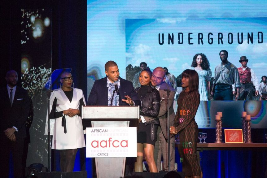 The cast of 'Underground,' winner of Best TV Show (Cable/New Media) (Photo: Sheri Determan)