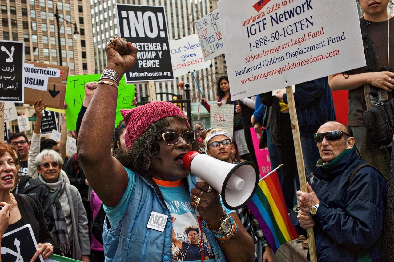 donald trump chicago protest