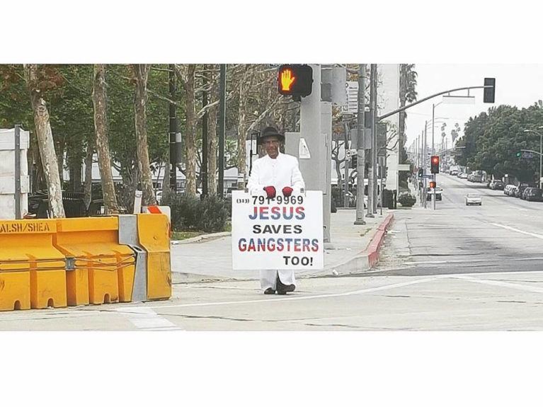 Jesus Saves Gangsters Too, in Leimert Park, an enclave well-known for its abundance of Black/African culture.