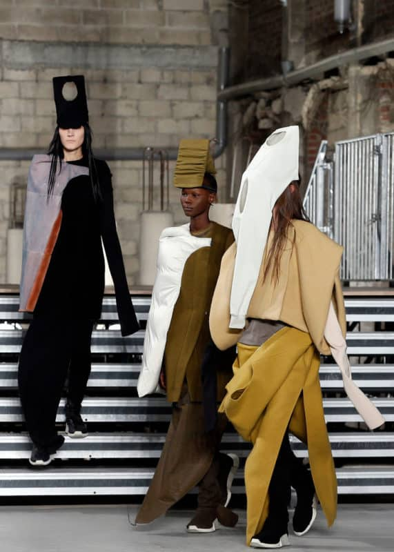 PARIS, FRANCE - MARCH 02: Models walk the runway during the Rick Owens show as part of the Paris Fashion Week Womenswear Fall/Winter 2017/2018 on March 2, 2017 in Paris, France. (Photo by Thierry Chesnot/Getty Images)