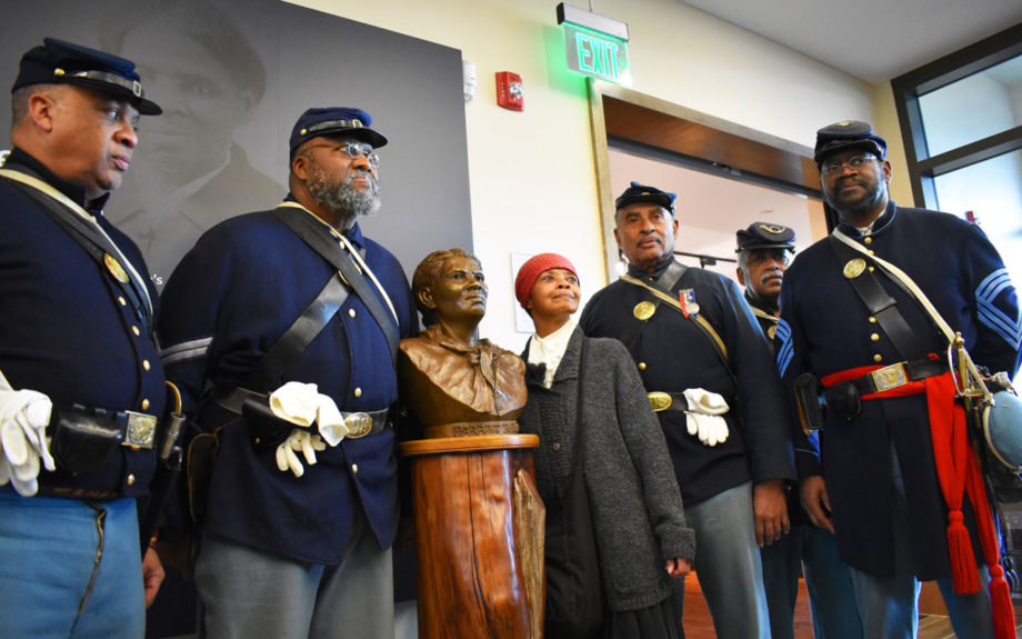 Civil War re-enactors at the opening of the Harriet Tubman Underground Railroad Visitor Center. Beth Parnicza/National Park Service