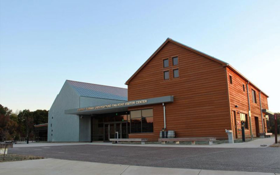 Exterior of the Harriet Tubman Underground Railroad Visitors Center. Beth Parnicza/National Park Service