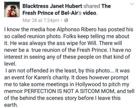 Janet Hubert Response