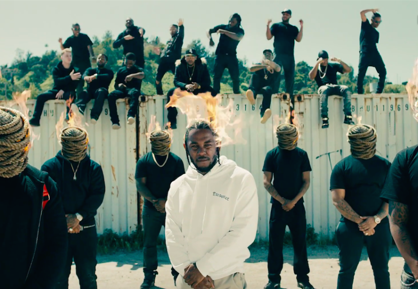 "Kendrick Lamar releases the visually stunning music video for his new single ""Humble,"" March 30"