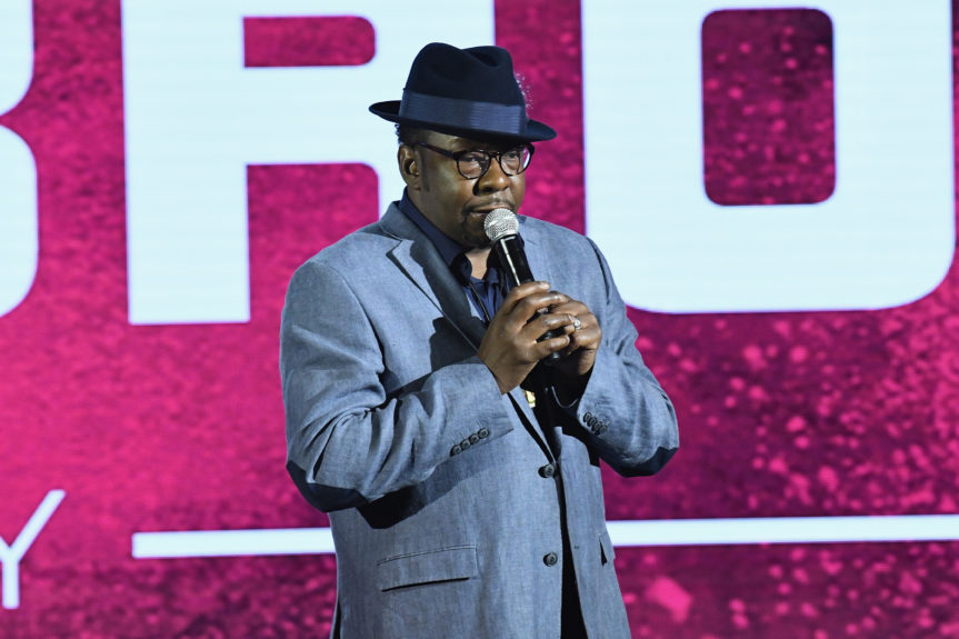 Singer-songwriter Bobby Brown speaks onstage during the 2017 BET Upfront NY as the network announces an upcoming biopic on his life. Slaven Vlasic/Getty Images for BET