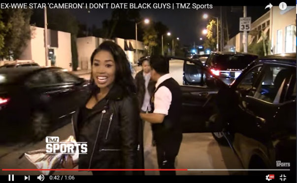 Ex-WWE Star 'Cameron' Says She Doesn't Date Black Guys