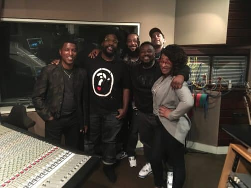Questlove Supreme Team: L to R: Babyface, Questlove, Boss Bill, Phonte, Suga Steve, Laiya