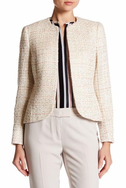 Anne Klein Sequined Tweed Blazer via AnneKlein.com
