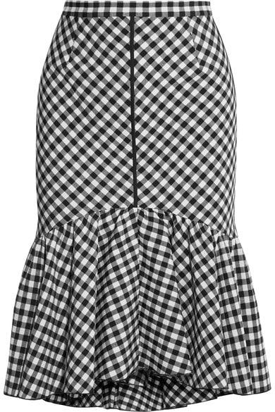 TOME Ruffled gingham jacquard skirt via Netaporter.com