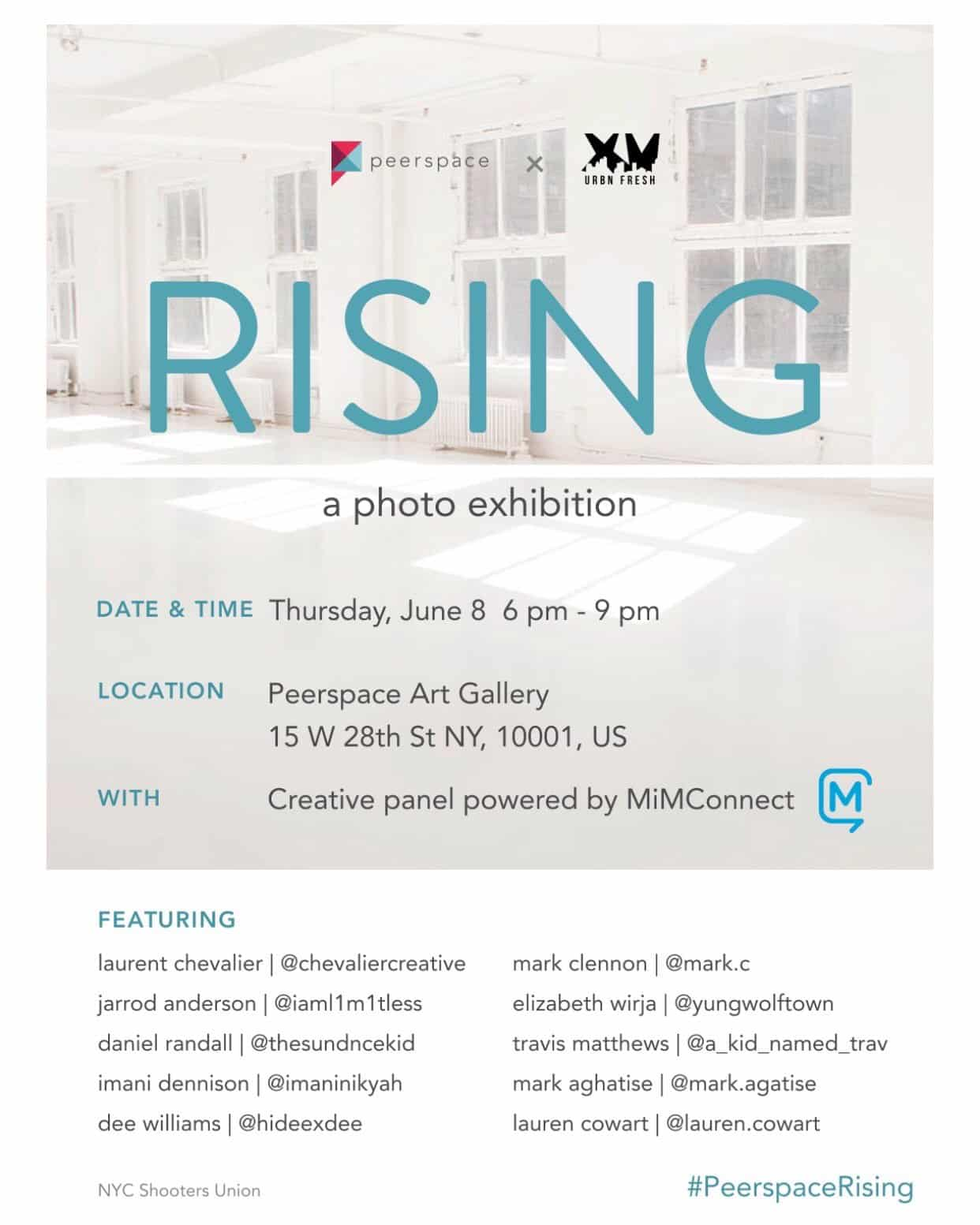 PeerSpace Rising Photo Exhibit