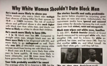 White College Student Punished for Flier Supporting Black Men