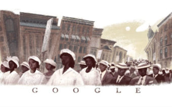 Google Commemorates 'Silent Parade's' 100th Anniversary with Doodle