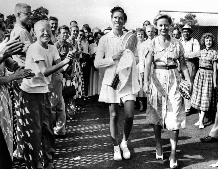 Althea Gibson at the USTA Billie Jean King National Tennis Center in the mid-1950s.