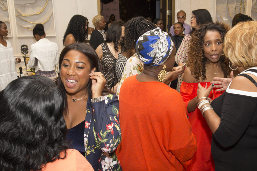 Women Up in Sports guests networking