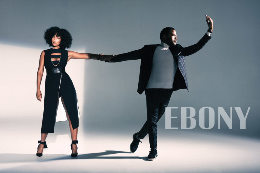 Tracee Ellis Ross and Anthony Anderson for EBONY. Photo: Dennis Leupold