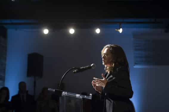 Senator Kamala D. Harris (D) during the Universal Music Group and Ebony celebration in her honor of during 2017 CBCF ALC at Ajax Gallery on Thursday, Sept. 21, 2017, in Washington, DC. (Photo by Kris Connor/Invision for Universal Music Group/AP Images)