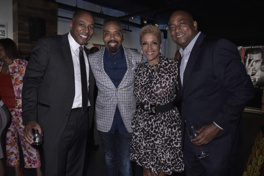 Jeff Harleston, Louis Carr (President of Sales at BET) Linda Johnson Rice and Keith Smith