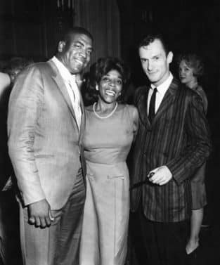 """The Queen of Blues Dinah Washington introduces her husband Dick """"Night Train"""" Lane to Chicago society at a party thrown by Hugh Hefner, publisher of Playboy. (Isaac Sutton/Johnson Publishing Archive)"""