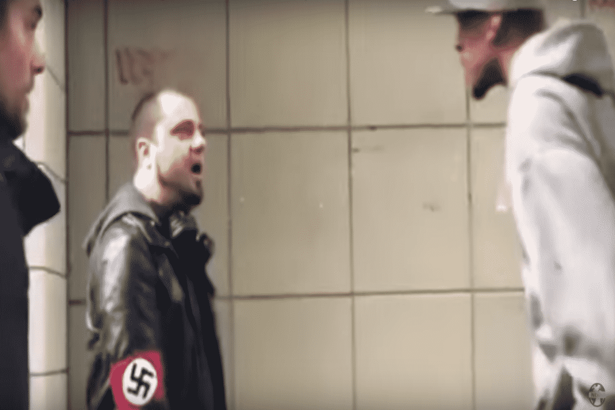Black Man Punches Neo-Nazi After Being Told Black People