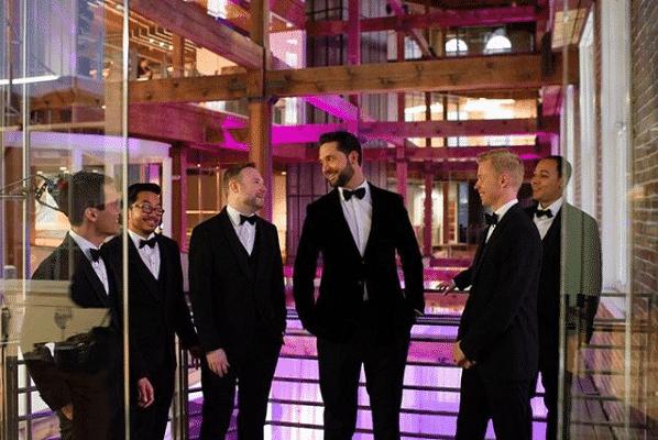 The groom and his groomsmen (Photo cred: @AlexisOhanian)
