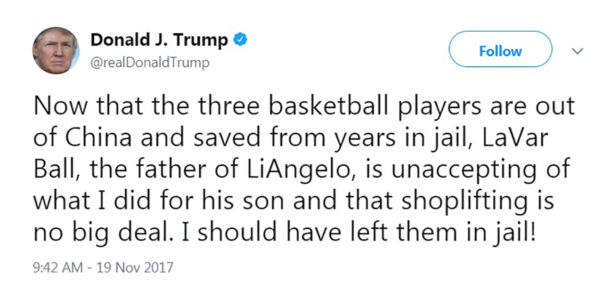 Trump Says He Should've Left UCLA Players in Chinese Jail