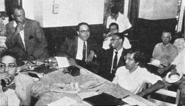 Booker at the trial for the death of Emmett Till.