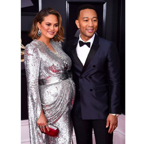 John Legend and Chrissy Teigen were a flawless party of three!
