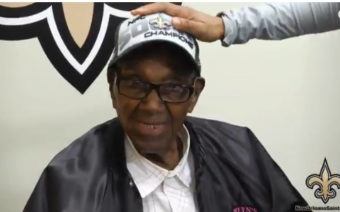 Saints Player Gifts Super Bowl Tickets to 108-Year-Old Vet
