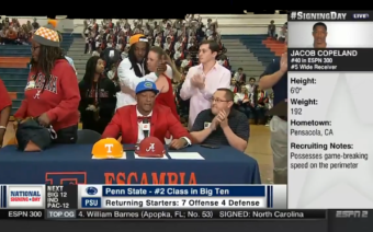 Mom Walks Off During Son's Televised College Announcement