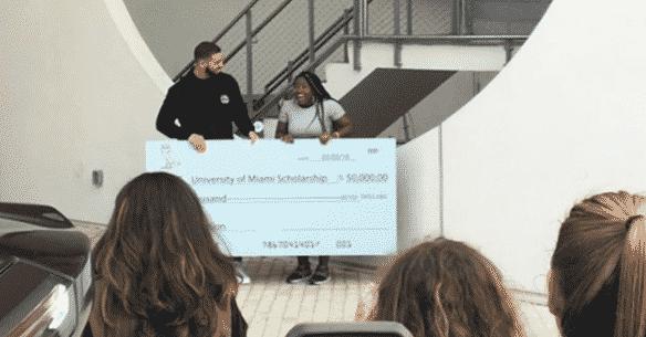 Drake Gives Away $50K Scholarship; Donates $25K to Miami High School