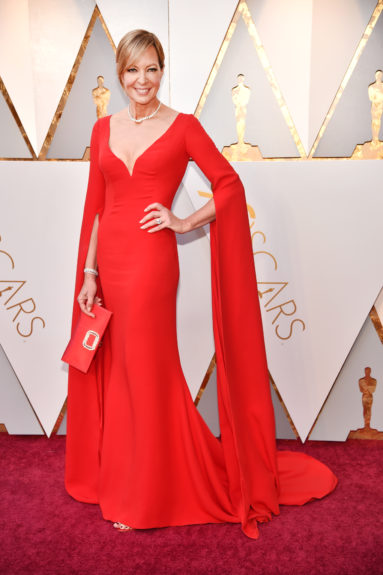 Allison Janney wearing 128.6 carats and value over $4 Million in jewelry.