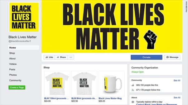 CNN, Black Lives Matter, Facebook Page
