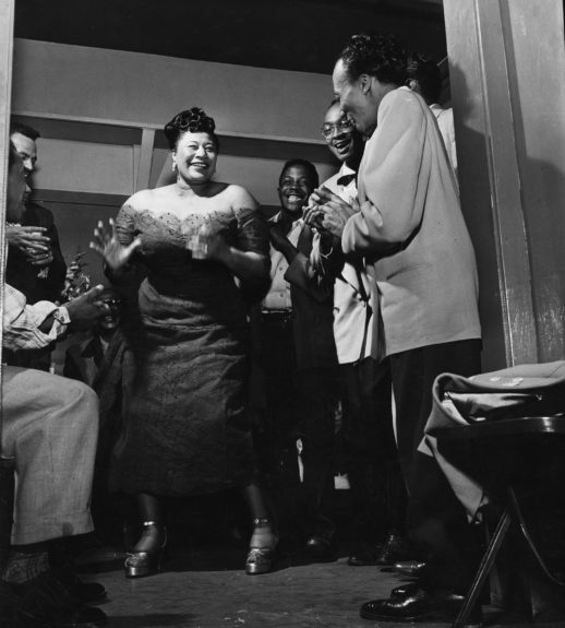 Ella Fitzgerald gets into full swing as she demonstrates the mambo in January of 1954.
