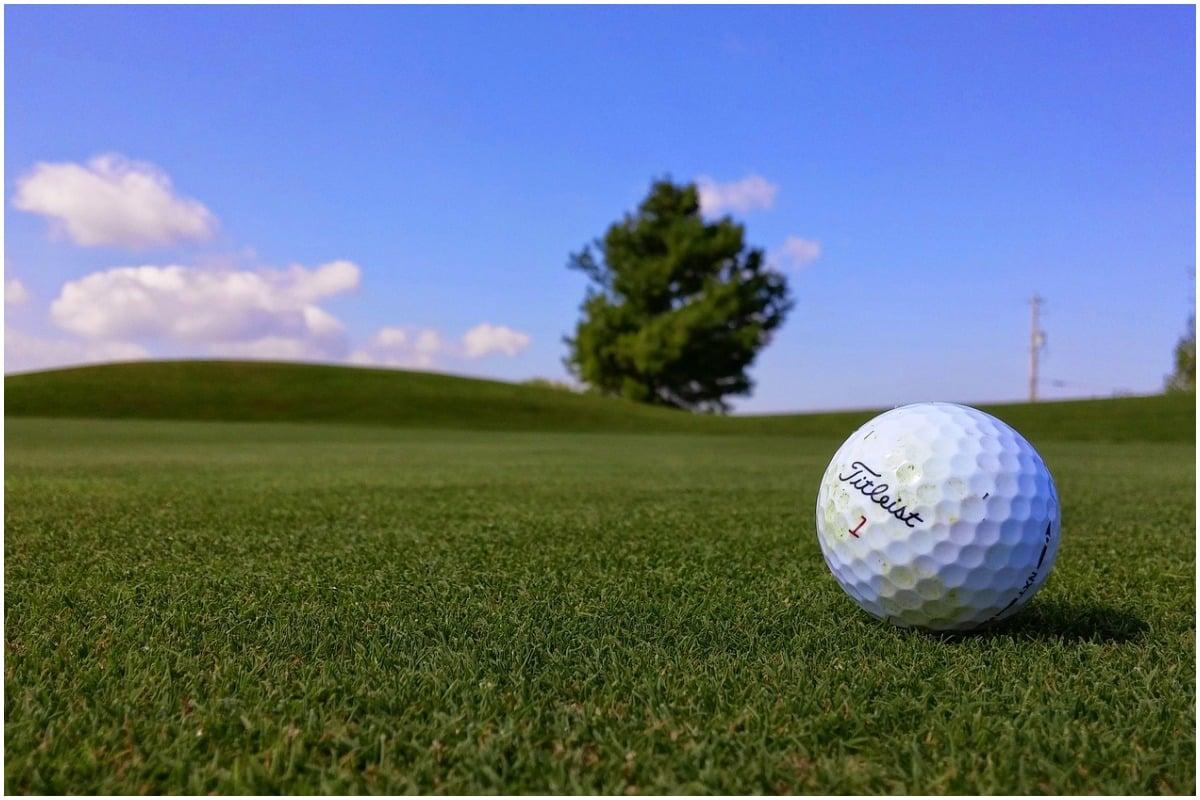 Golf club golf ball, black women
