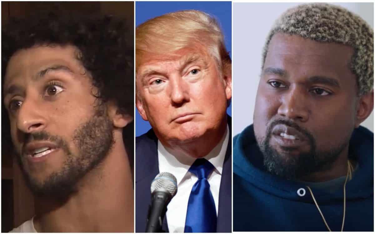 Colin Kaepernick, Trump, Kanye West