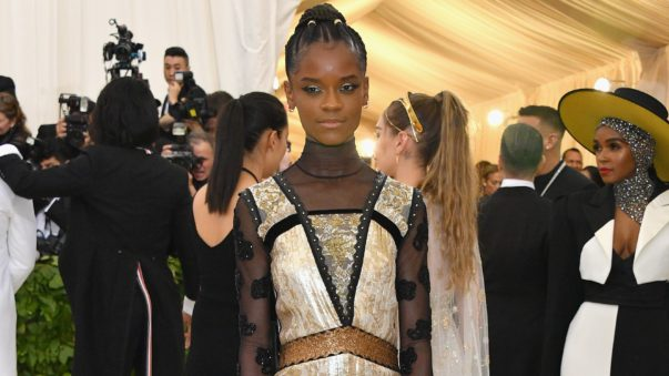 "Cop This Look: ""Black Panther's"" Letitia Wright's Blessed Beat at the 2018 Met Gala"