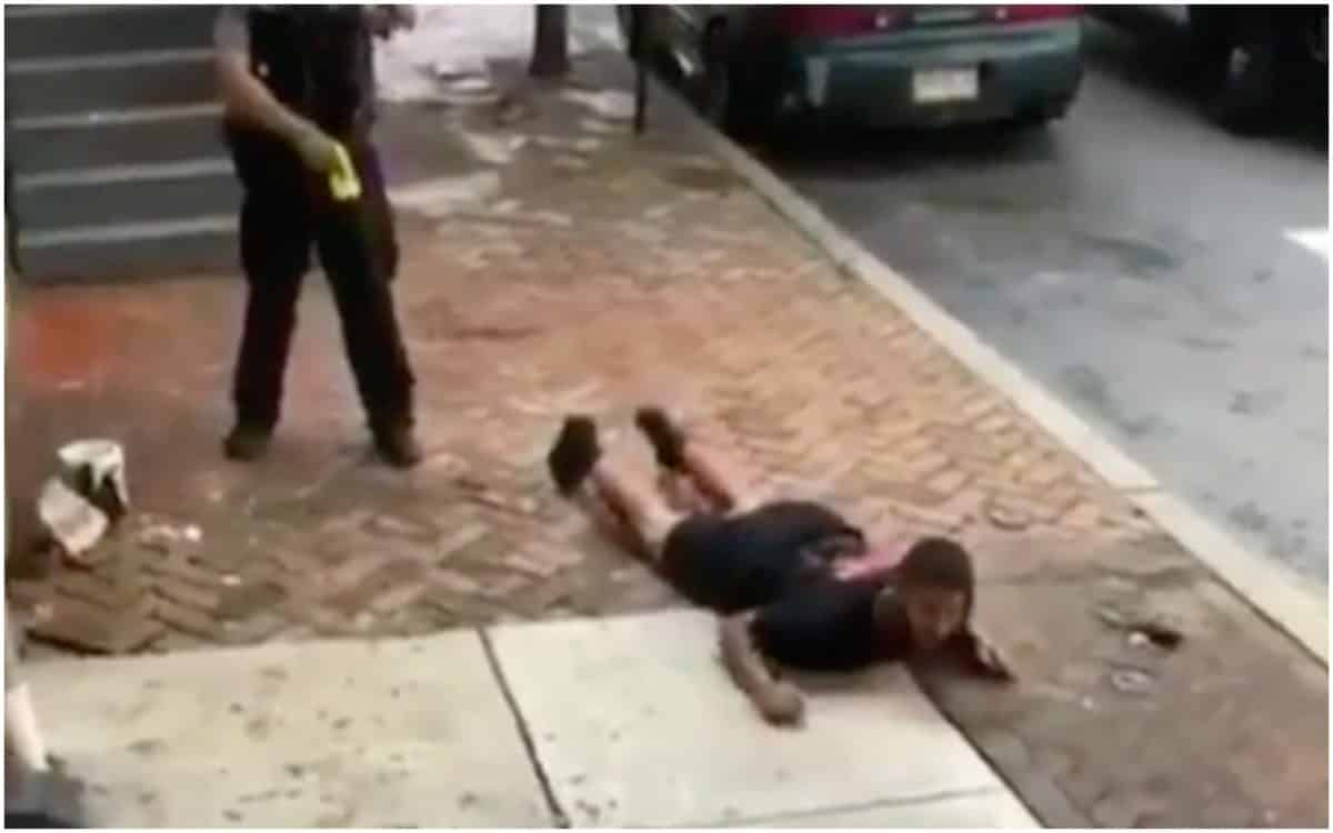Unarmed Black Man, tased