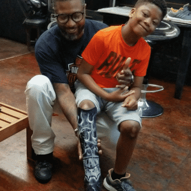 Boy Rejoices After Getting Black Panther-Themed Prosthetic Leg (VIDEO)