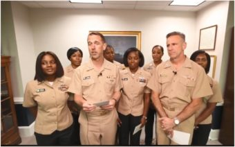 Black women, U.S. Navy, natural hair