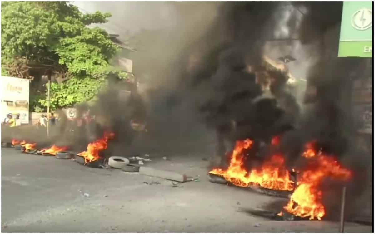 Protests, Protesters, Haiti, Fuel