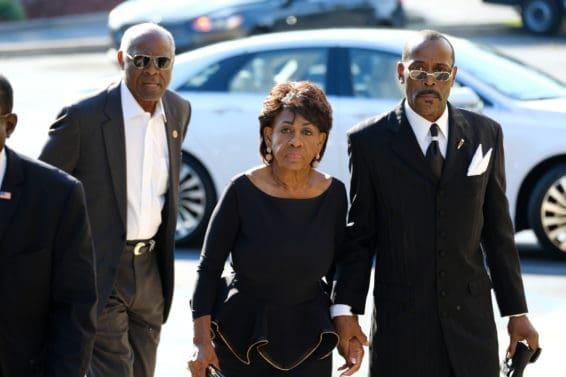 Aretha Franklin, Aretha Franklin funeral, funeral, Detroit, maxine waters