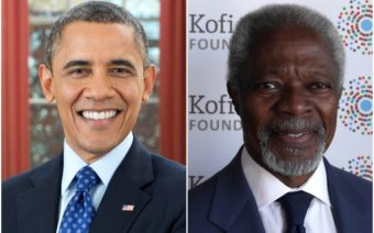Barack Obama, Kofi Annan, Obama