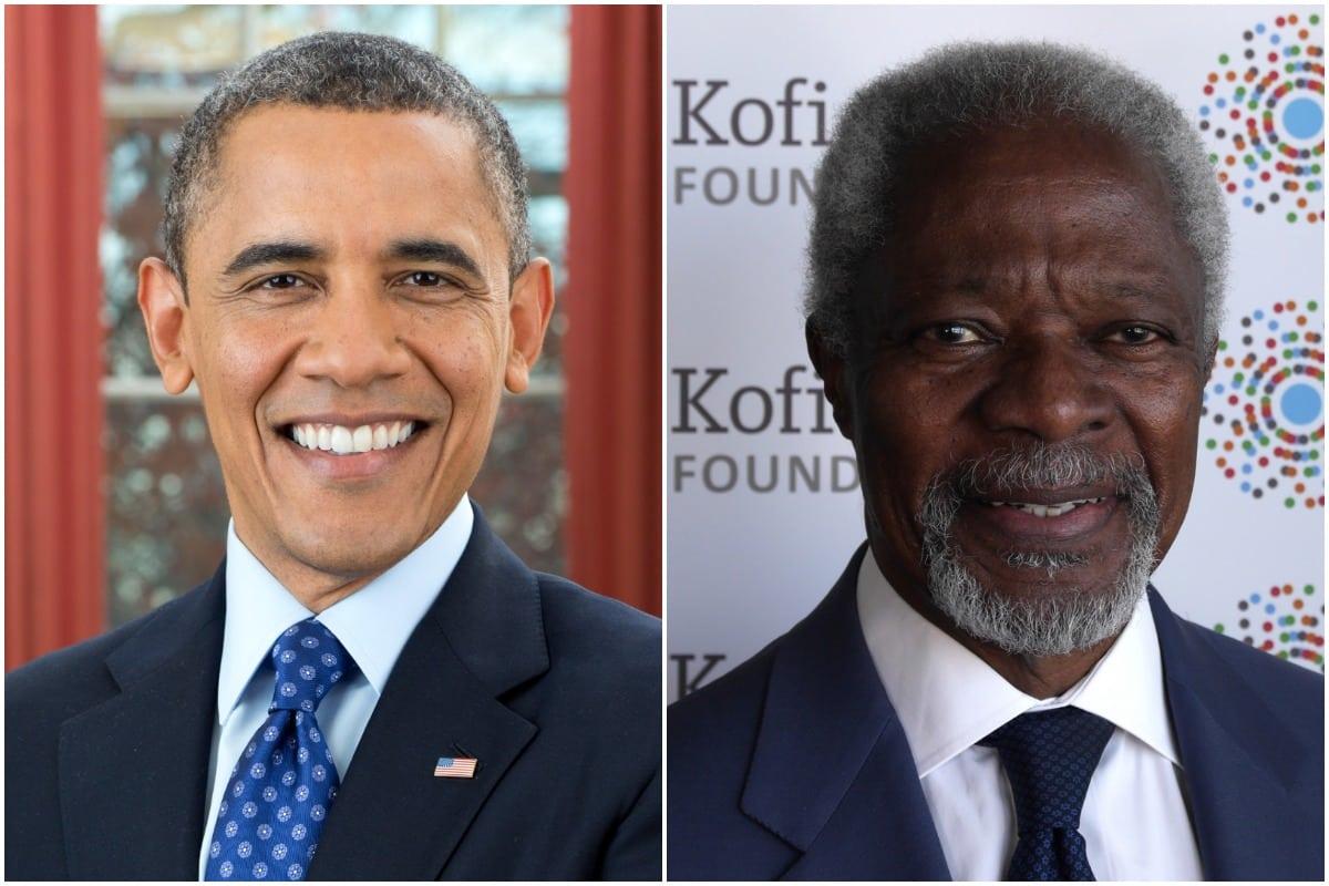 Barack Obama, Kofi Annan, Obama
